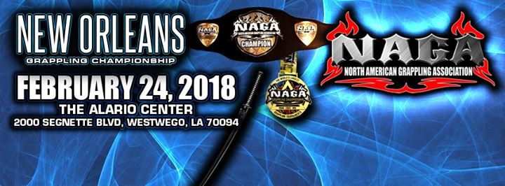 2018 NAGA New Orleans Grappling Championship – Grappling Calendar